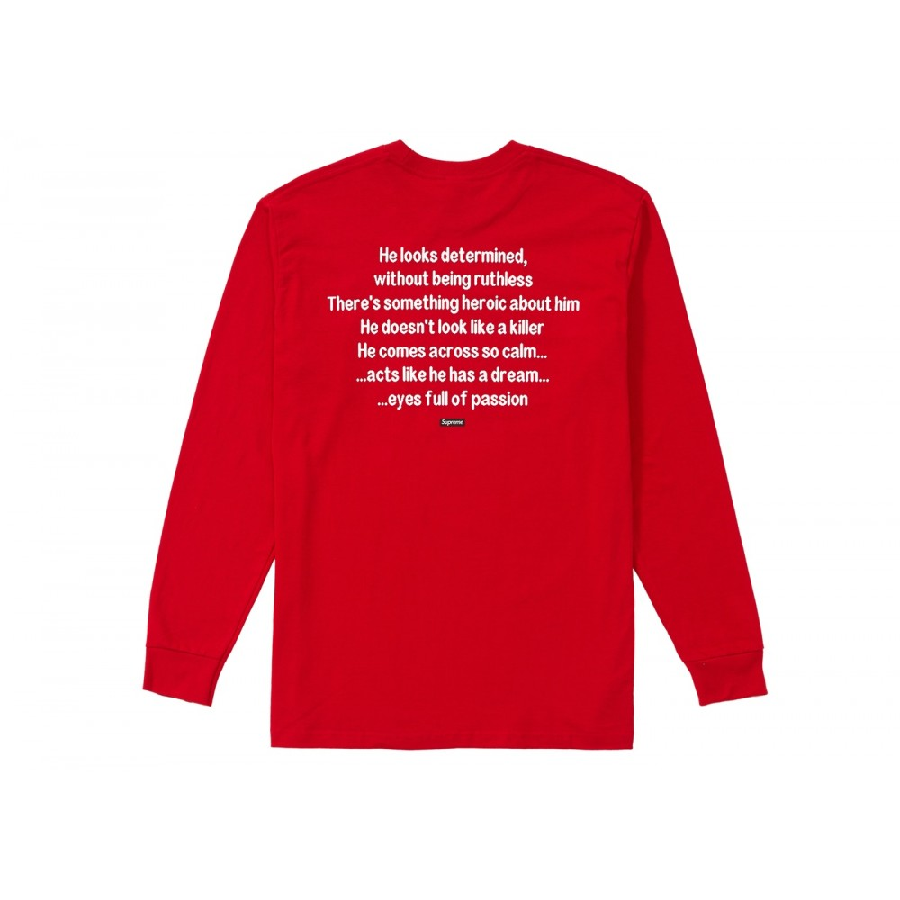 FW18 Supreme The Killer L/S Tee Red