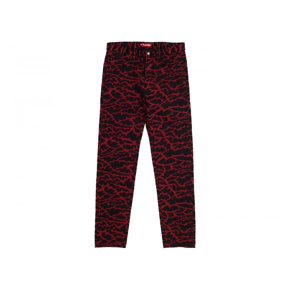 FW18 Supreme Thorn Jean Red