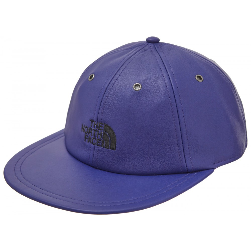 FW18 Supreme The North Face Leather 6-Panel Royal