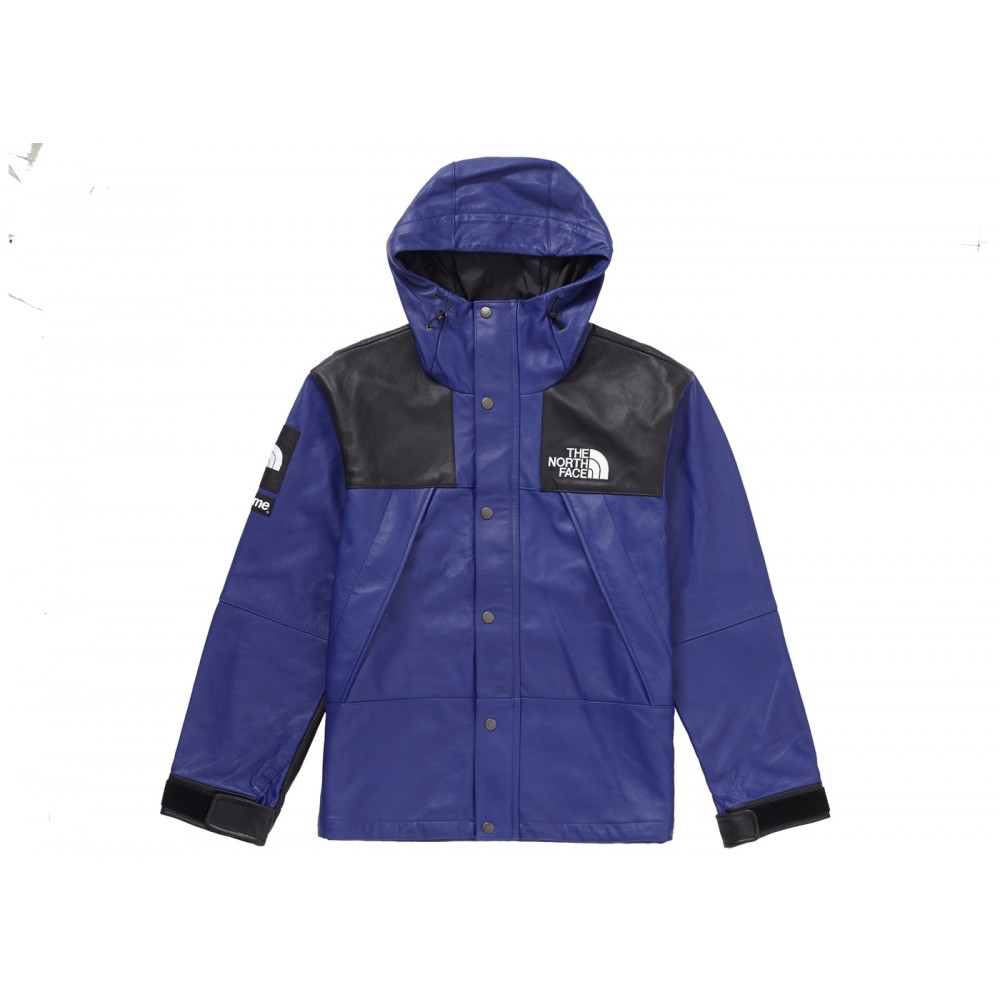 FW18 Supreme The North Face Leather Mountain Parka Royal
