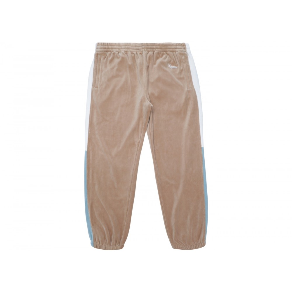 FW18 Supreme Velour Pant Tan