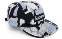 FW18 Supreme Abstract Camp Cap Black