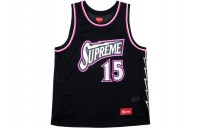 FW18 Supreme Bolt Basketball Jersey Black