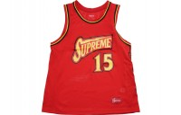 FW18 Supreme Bolt Basketball Jersey Red
