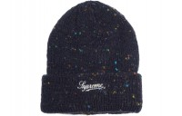 FW18 Supreme Colored Speckle Beanie Navy