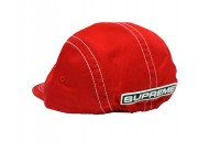 FW18 Supreme Fitted Rear Patch Camp Cap Red