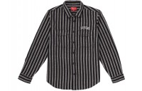 FW18 Supreme Stripe Heavyweight Flannel Shirt Black