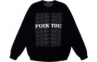 FW18 Supreme Hysteric Glamour Fuck You Sweater Black