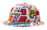 FW18 Supreme Hysteric Glamour Text Bell Hat White