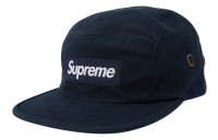 FW18 Supreme Napped Canvas Camp Cap Navy