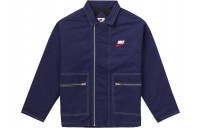 FW18 Supreme Nike Double Zip Quilted Work Jacket Navy