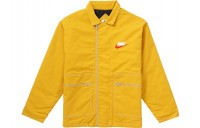 FW18 Supreme Nike Double Zip Quilted Work Jacket Mustard