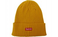 FW18 Supreme Overdyed Ribbed Beanie (SS18) Washed Gold