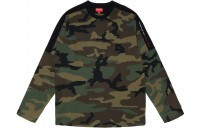 FW18 Supreme Paneled L/S Top Woodland Camo