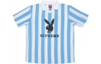 FW18 Supreme Playboy Soccer Jersey Light Blue