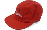 FW18 Supreme Snap Button Pocket Camp Cap Red