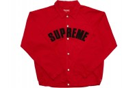 FW18 Supreme Snap Front Twill Jacket Red