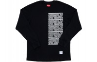 FW18 Supreme Stacked L/S Top Black