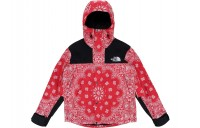 FW18 Supreme The North Face Bandana Mountain Jacket Red
