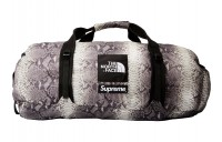 FW18 Supreme The North Face Snakeskin Flyweight Duffle Bag Black