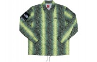 FW18 Supreme The North Face Snakeskin Taped Seam Coaches Jacket Green