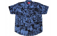 FW18 Supreme Vibrations Rayon Shirt Royal