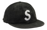 FW18 Supreme Washed Chambray S Logo 6-Panel Black