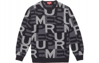 FW18 Supreme Big Letters Sweater Black