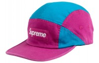 FW18 Supreme Contrast Panel Camp Cap Magenta