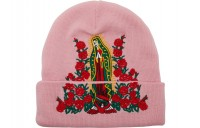 FW18 Supreme Guadalupe Beanie Pink