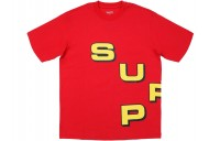 FW18 Supreme Stagger Tee Red