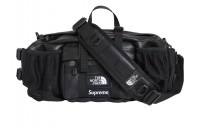 FW18 Supreme The North Face Leather Mountain Waist Bag Black
