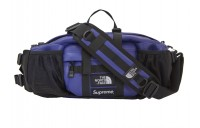 FW18 Supreme The North Face Leather Mountain Waist Bag Royal