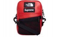 FW18 Supreme The North Face Leather Shoulder Bag Red
