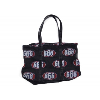 FW18 Supreme 666 Denim Tote Black