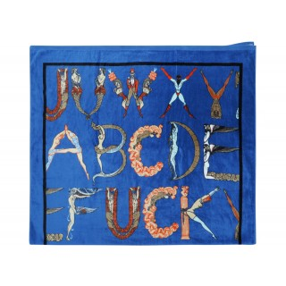 FW18 Supreme Alphabet Beach Towel Navy