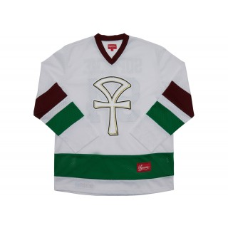 FW18 Supreme Ankh Hockey Jersey White