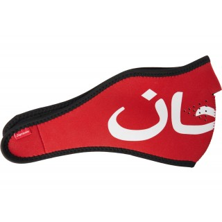 FW18 Supreme Arabic Logo Neoprene Facemask Red