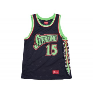FW18 Supreme Bolt Basketball Jersey Navy