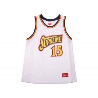 FW18 Supreme Bolt Basketball Jersey White