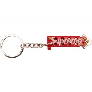 FW18 Supreme Butterfly Knife Keychain Red
