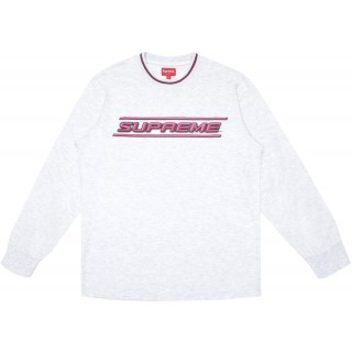 FW18 Supreme Bevel L/S Top Ash Grey