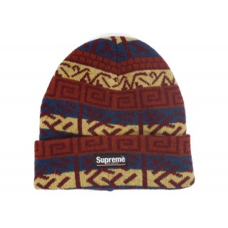 FW18 Supreme Brushed Pattern Beanie Navy