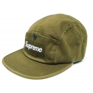 FW18 Supreme Snap Button Pocket Camp Cap Moss