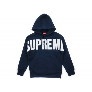 FW18 Supreme Banner Pullover Navy