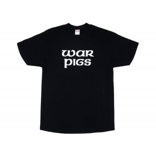 FW18 Supreme Black Sabbath War Pigs Tee Black