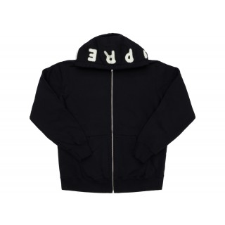 FW18 Supreme Bone Zip Up Sweatshirt Black