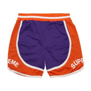 FW18 Supreme Curve Basketball Short Purple