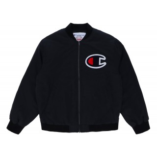 FW18 Supreme Champion Color Blocked Jacket Black
