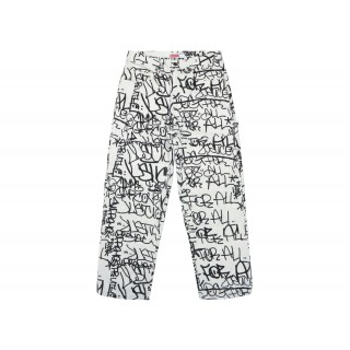 FW18 Supreme Comme des Garcons SHIRT Canvas Painter Pant White